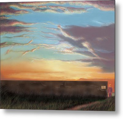 Private Sunrise.  Keep Out Metal Print