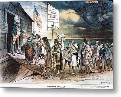 Pro-immigration Cartoon Metal Print by Granger