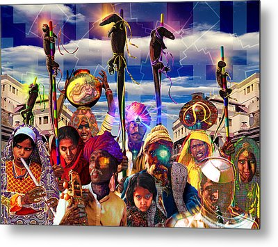 Procession Of The Cybernagas Metal Print by Mark Myers