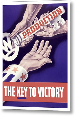 Production - The Key To Victory Metal Print by War Is Hell Store