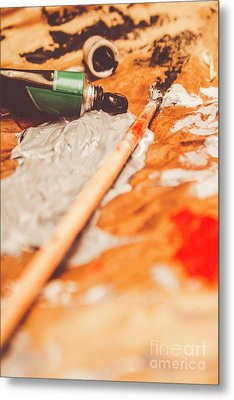 Progress Of Oil Painting Metal Print by Jorgo Photography - Wall Art Gallery