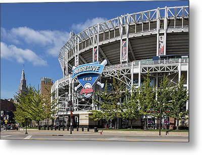 Metal Print featuring the photograph Progressive Field In Cleveland Ohio by Dale Kincaid