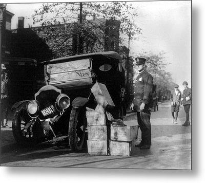 Prohibition, A Policeman Standing Metal Print