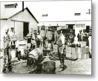 Prohibition Agents Metal Print