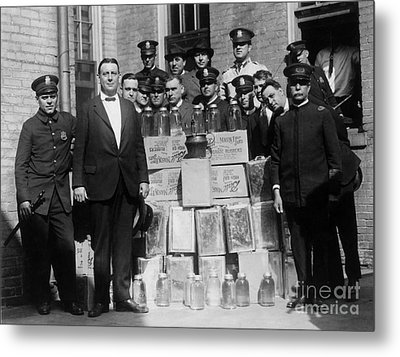 Prohibition Bust Metal Print