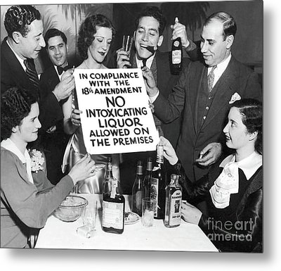 Prohibition Ends Let's Party Metal Print by Jon Neidert