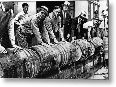 Prohibition Feds And Crew Dump Liquor Metal Print by Daniel Hagerman