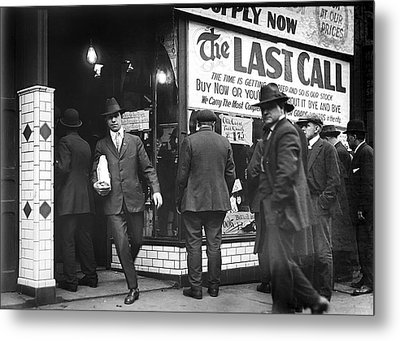 Prohibition Last Call - Detroit - 1919 Metal Print by Daniel Hagerman