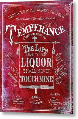 Prohibition Lips Red Metal Print