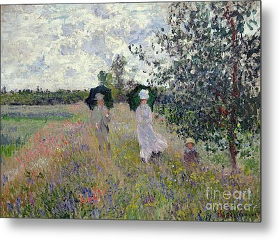Promenade Near Argenteuil Metal Print by Claude Monet