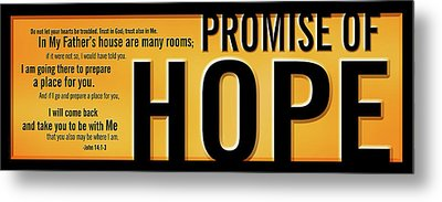 Metal Print featuring the digital art Promise Of Hope by Shevon Johnson