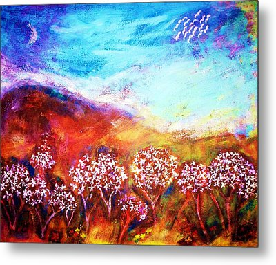 Metal Print featuring the painting Promise by Winsome Gunning