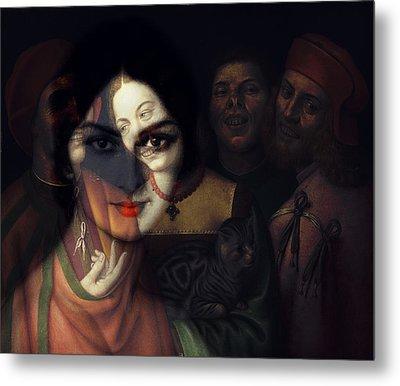 Metal Print featuring the mixed media Promises Made In The Heat Of The Night  by Paul Lovering