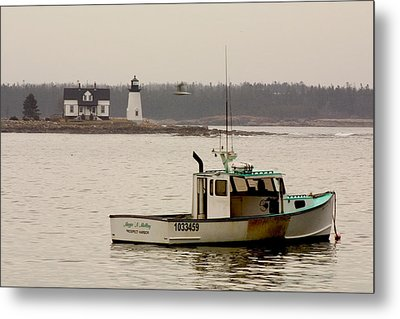 Prospect Harbor Lighthouse Metal Print by Brent L Ander