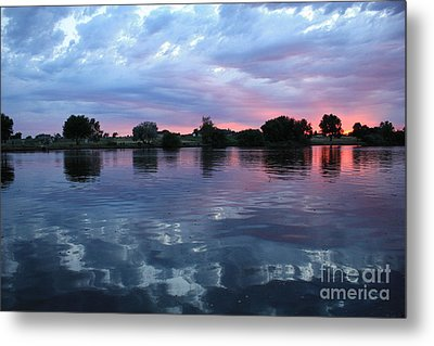 Prosser Pink Sunset 5 Metal Print by Carol Groenen