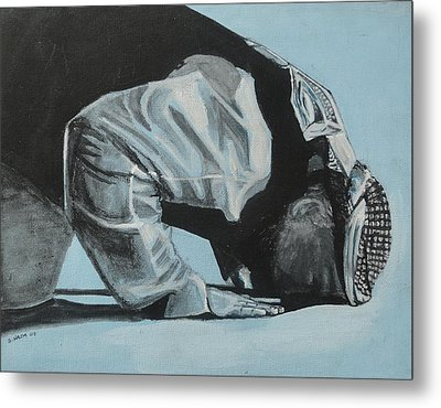 Prostration In Palestine Metal Print by Salwa  Najm