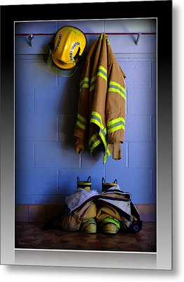 Protect And Serve Metal Print by Farol Tomson