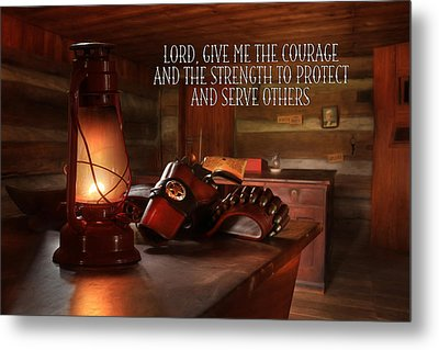 Protect And Serve Metal Print by Lori Deiter