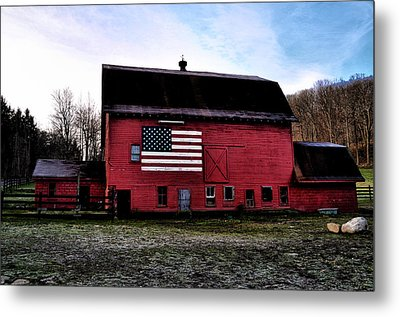Proud To Be American Metal Print by Bill Cannon
