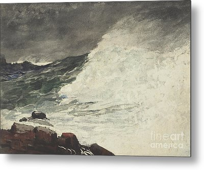 Prouts Neck Breaking Wave Metal Print by Winslow Homer