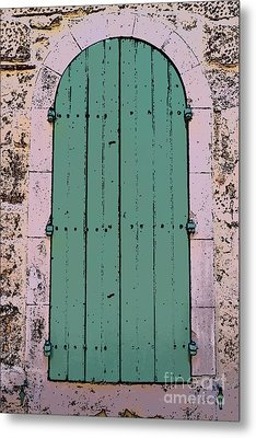 Provencale Wood Window Metal Print by Rui Militao