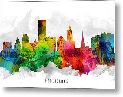 Providence Rhode Island Cityscape 12 Metal Print