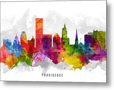 Providence Rhode Island Cityscape 13 Metal Print