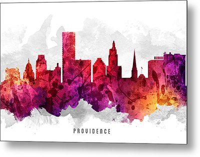 Providence Rhode Island Cityscape 14 Metal Print
