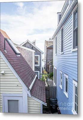 Provincetown Alley Cape Cod Metal Print