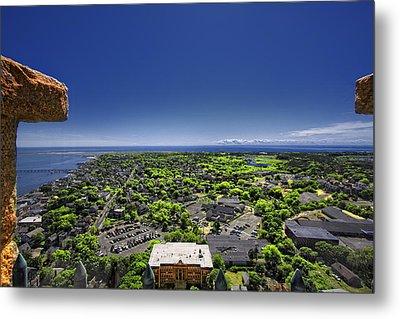 Provincetown Panoramic Aerial Metal Print by Dapixara Art