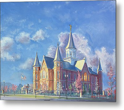Provo City Center Temple Metal Print by Jeff Brimley