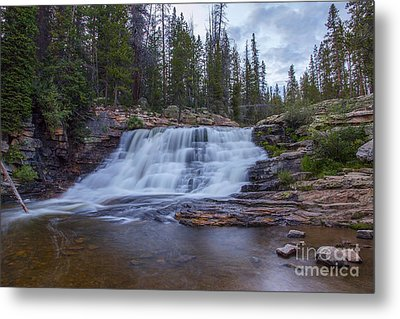 Metal Print featuring the photograph Provo River Falls by Spencer Baugh