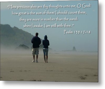 Psalm 139 Metal Print by Cindy Wright