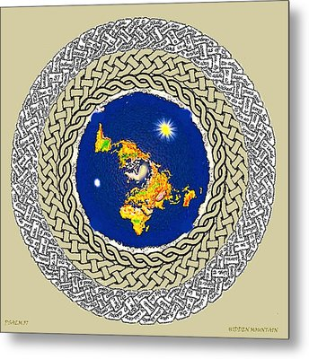 Psalm 37 Flat Earth Metal Print