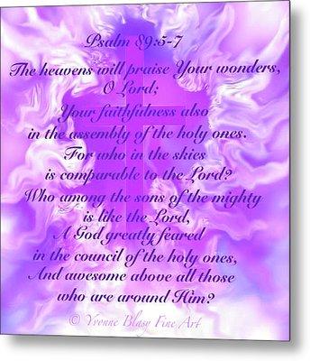 Psalm Eighty Nine Selected Verses Metal Print
