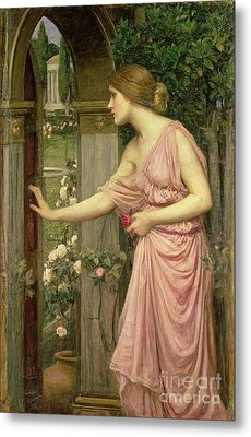 Psyche Entering Cupid's Garden Metal Print