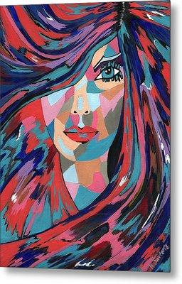 Psychedelic Jane Metal Print by Kathleen Sartoris