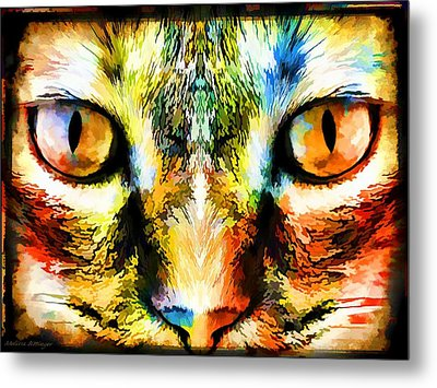 Psychedelic Kitty Cat Metal Print