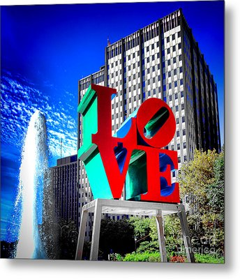 Psychedelic Love  Metal Print by Olivier Le Queinec
