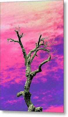 Psychedelic Tree Metal Print
