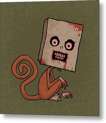 Psycho Sack Monkey Metal Print by John Schwegel
