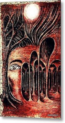Psychological Labyrinth Metal Print by Paulo Zerbato