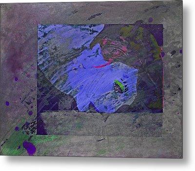 Psychowarhol Blue Metal Print
