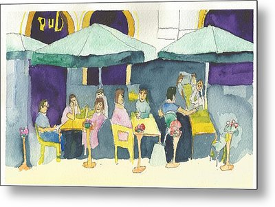 Pub In Harry Hjornes Plats Metal Print