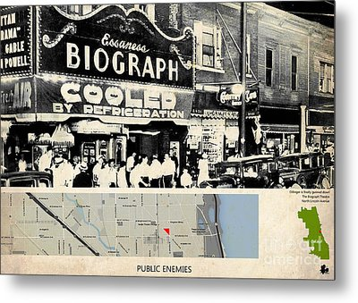 Public Enemies Movie Location, Johnny Depp, Dillinger Metal Print by Pablo Franchi