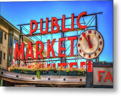 Public Market At Noon Metal Print by Spencer McDonald
