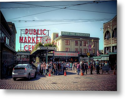 Public Market Crowd Metal Print by Spencer McDonald