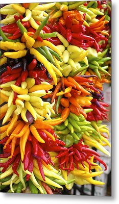Public Market Peppers Metal Print