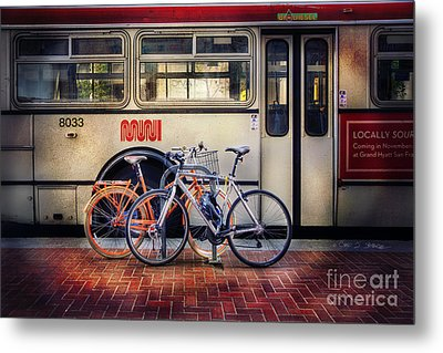 Metal Print featuring the photograph Public Tier Bicycles by Craig J Satterlee