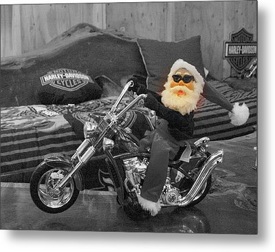 Pucker Up Harley Babes 5 Metal Print by Marie Neder